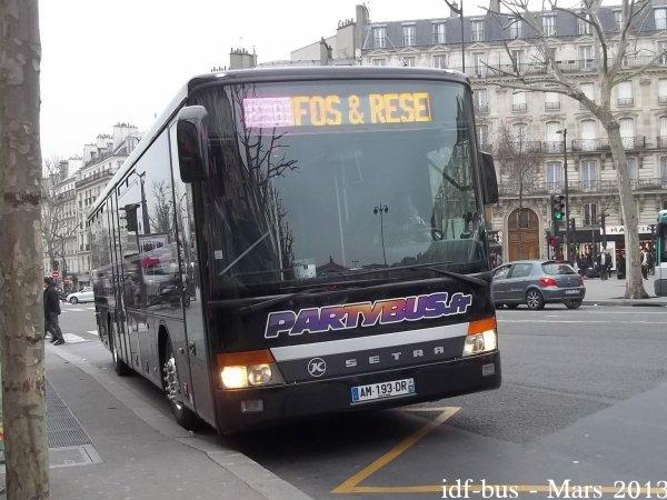 Société PARTYBUS.FR,autocar Setra S315 UL à Gare de l'Est