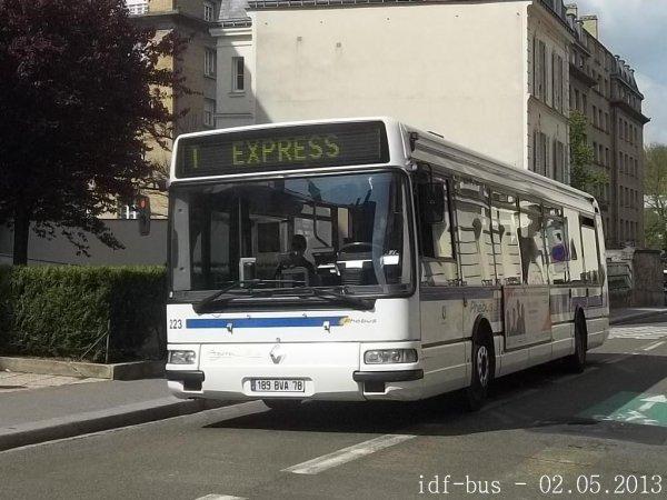 Réseau Phébus groupe Kéolis,photos à Versailles-Chantiers
