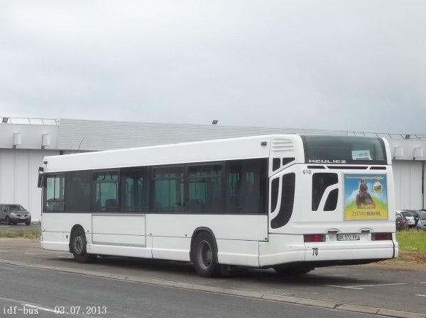 Le bus Heuliez GX317 ¤3 n° 610 ex RATP-Athis Cars groupe Kéolis
