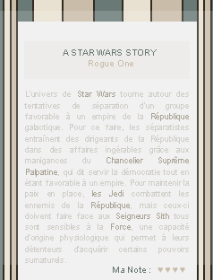 ● ● ● Rogue One sur breatheHERE.skyrock.com  » A rebellion built on hope  _______________________________________________________________Création || Décoration