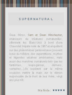 ● ● ● Supernatural sur breatheHERE.skyrock.com  » Dude, where's the Pie ?   ________________________________________________________________Création || Décoration