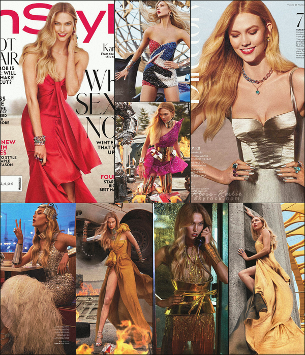 .. ----▷ Photoshoot -◆- Karlie Kloss fait la couverture du magazine InStyle - ed. Aout 2017 !