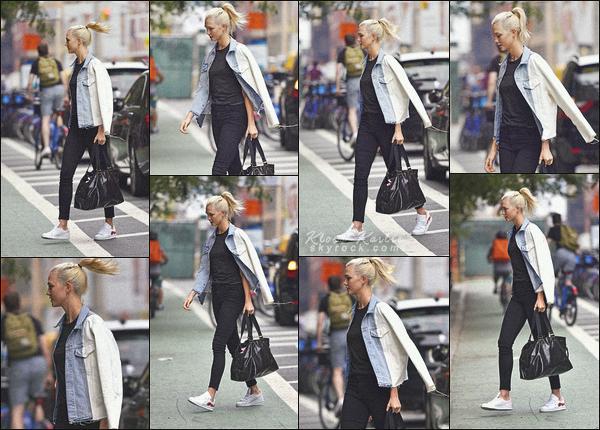 .. ----▷ Candid -◆- Karlie K. s'est rendu au studio de la marque Express à New York.