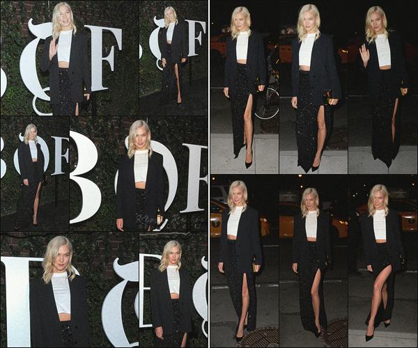 .. ----▷ Event -◆- Miss Kloss a assisté au gala « The Business of Fashion » lors de la NYFW.
