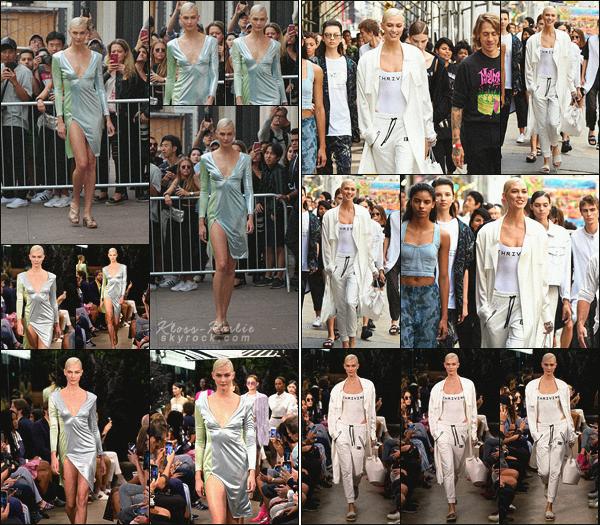 .. ----▷ New York Fashion Week -◆- Karlie Kloss a défilé pour la marque Baja East.