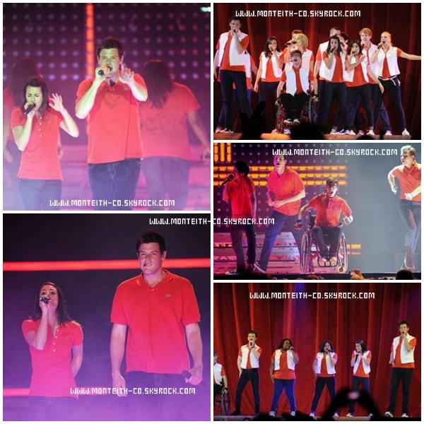 .............................................................................. MERCREDI 22 JUIN 2011 : Cory et le Cast Glee performaient à Manchester...............................................................................