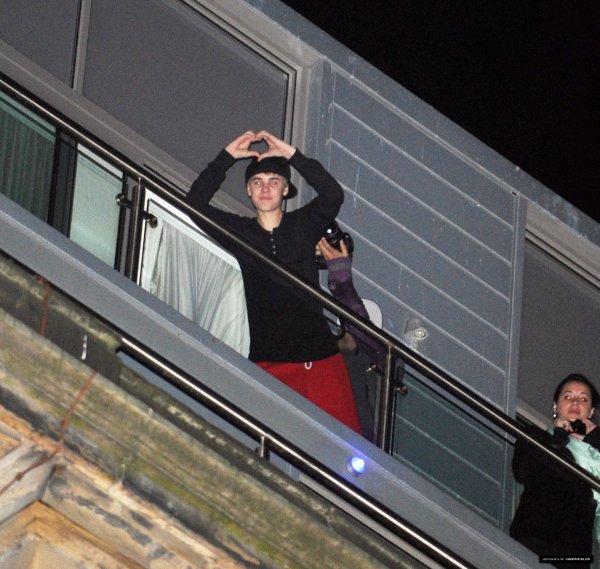 Justin bieber à son hôtel