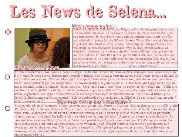 Les News de Selena...