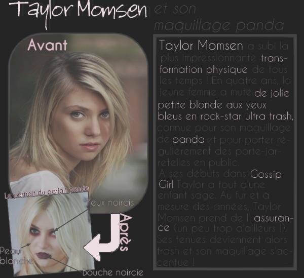 Taylor Momsen et son maquillage panda