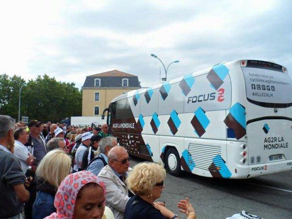 Autocar AG2R LA MONDIALE au tour de France 2014