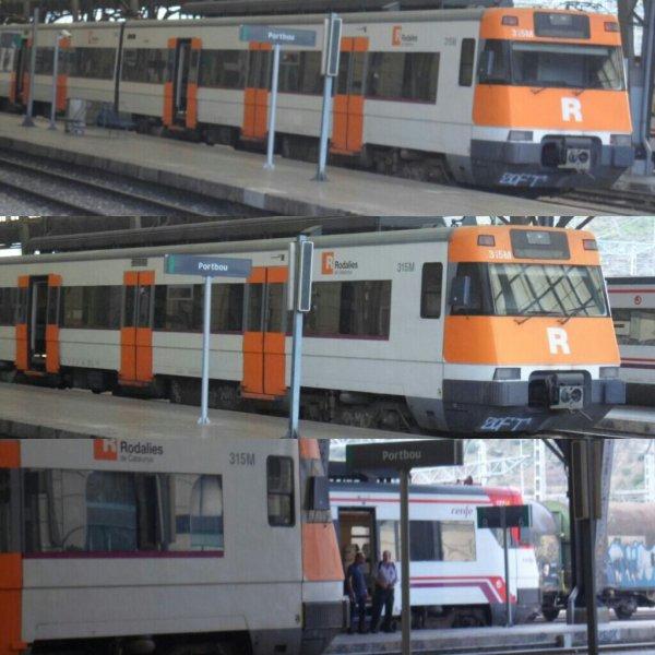 Train de la RENFE a port bou (catalogne espagne)