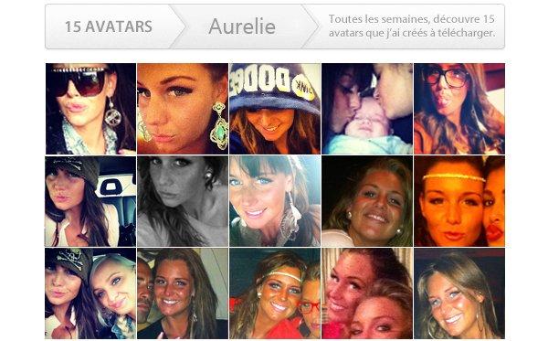 15 avatars à télécharger sur la sublime Aurélie