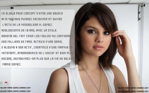 >Bienvenue sur selena-maire-gomez.skyrock.com , votre toute nouvelle source sur Selena Gomez !