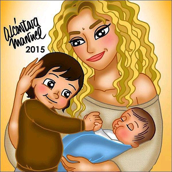 Le dessinateur Alcantara a réalisé un nouveau dessin en l'honneur de la naissance de Sasha