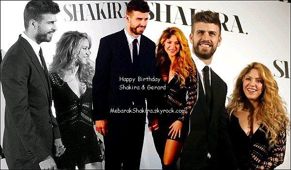 En ce 2 février 2015 Shakira & Gerard prennent tous deux un an de plus ! 38 pour la belle colombienne & 28 pour son footballeur préféré ! lls sont magnifiques tous les deux ♥