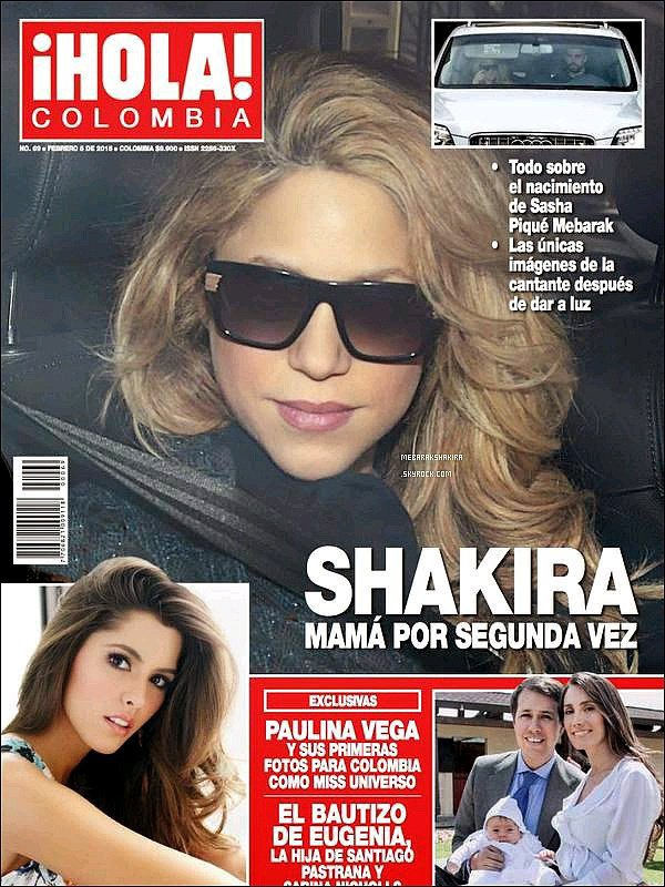 Février 2015, Shakira est en couverture du magazine colombien Hola