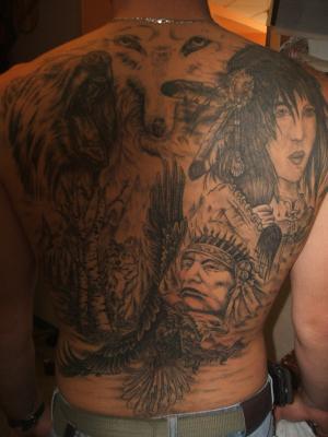 dos style indien terminé - le tatouage