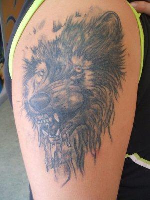 Tete de loup le tatouage - Tete de loup tatouage ...