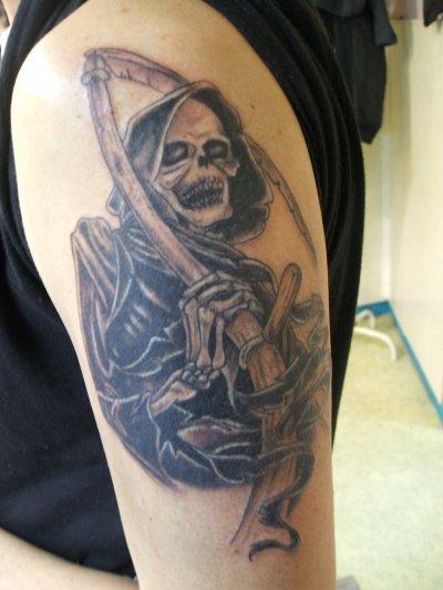 Faucheuse 4 le tatouage - Tatouage la faucheuse ...