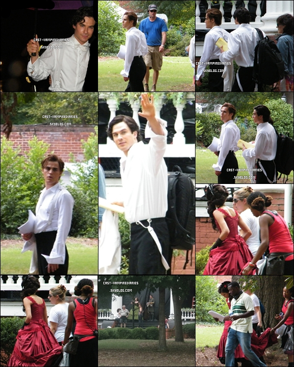 * 20 août  • Ian, Nina et Paul étaient sur le tournage de la saison 2 de TVD. Ils étaient entrain de tourner une scène FlashBack. Mmhh pressée de voir le résultat !   *
