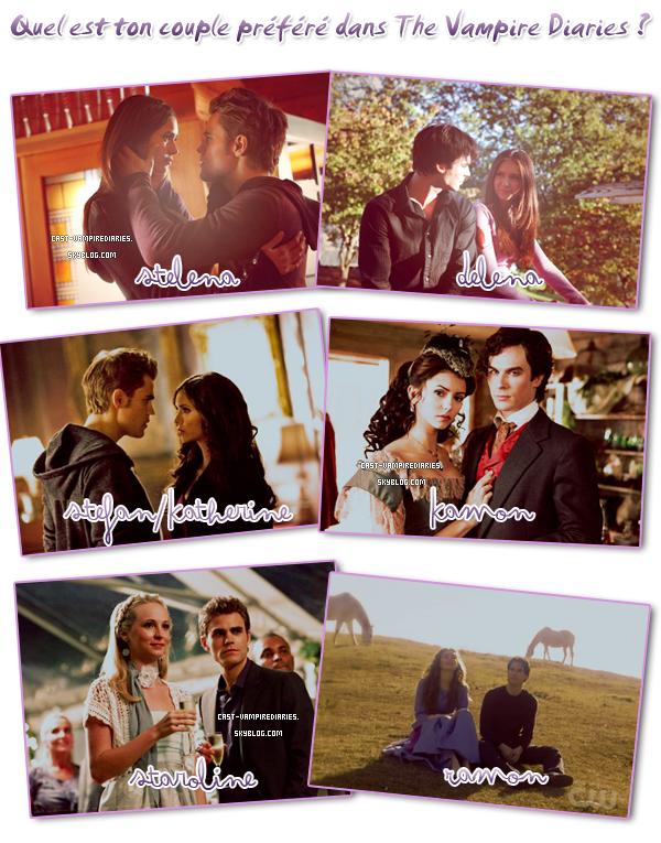 . Quel est votre couple préféré de la série ?  .