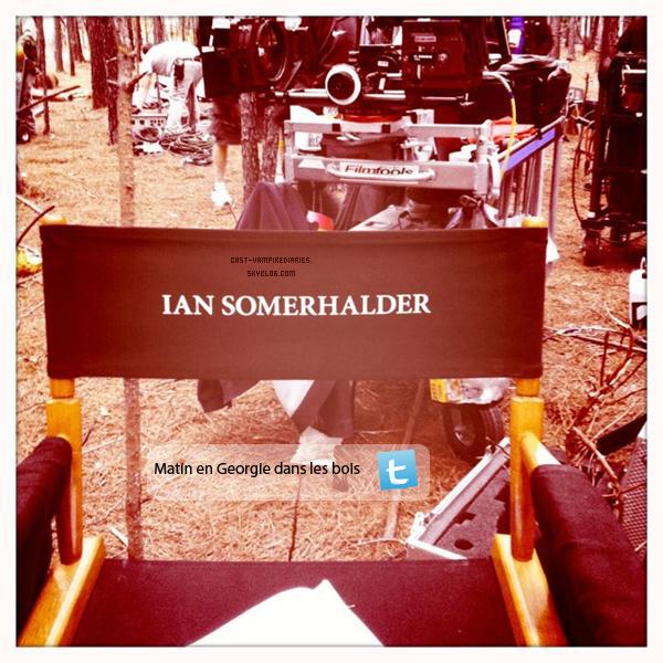 Ian Somerhalder      On peut voir que le tournage de la série a reprit !.