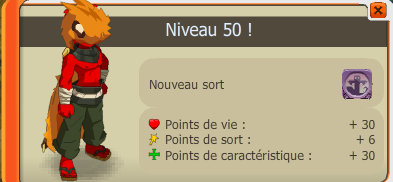 up 100 du sacri / nouveau persso deja level 50 !