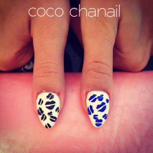 nail art bouche
