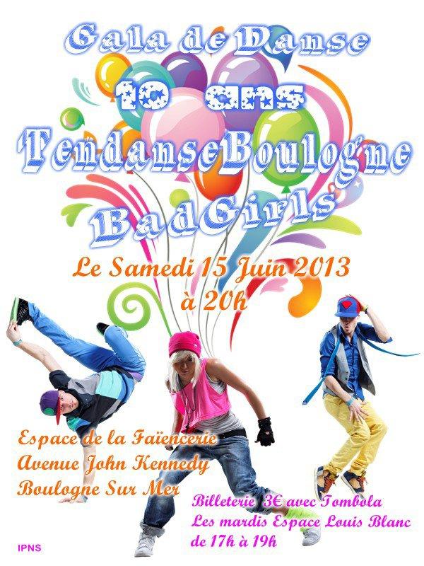 Gala de danse les 10 ans de TendanseBoulogne