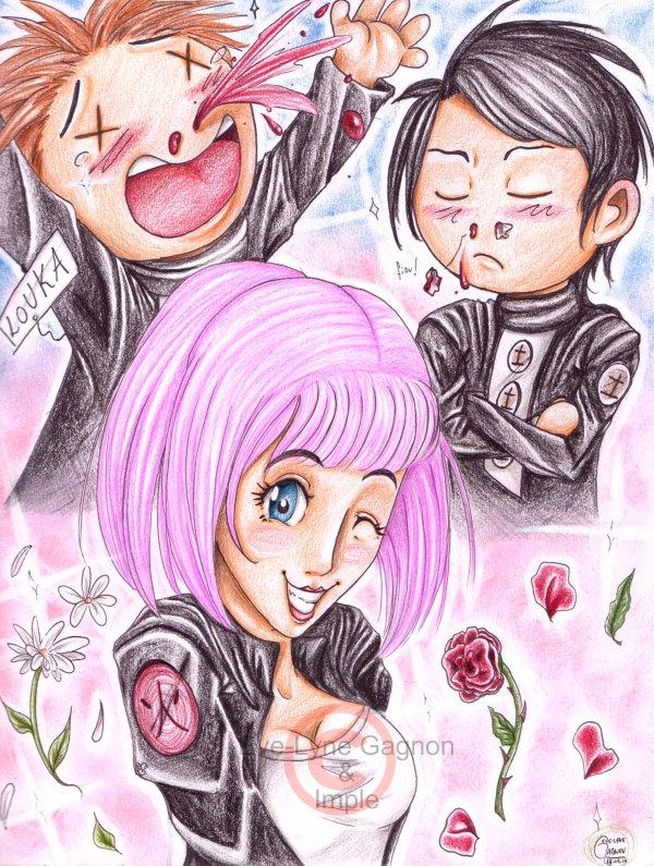 Fanart pour impledes1 *Umi, Louka et Yukio*