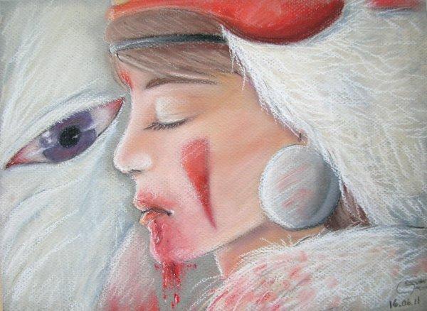 Fanart/Pastel *Princesse Mononoke*
