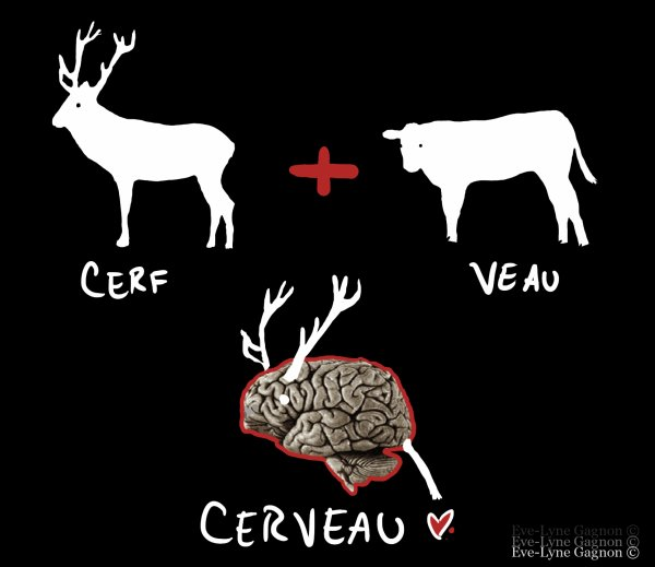 Collage *Cerf-veau*