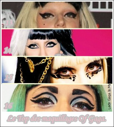 ℒe Top des maquillages Of Gaga.