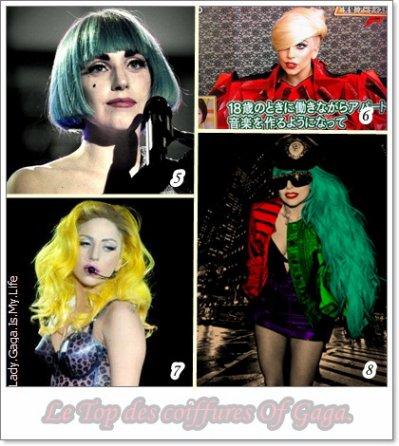 ℒe Top des coiffures Of Gaga.