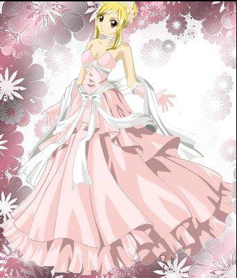 Fan art n°4 : Lucy Heartfilia n robe de bal (transformation du dessin en image couleur ).