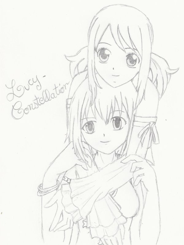 Fan art n°9 : Lucy de Fairy Tail et Elie de Rave Master.