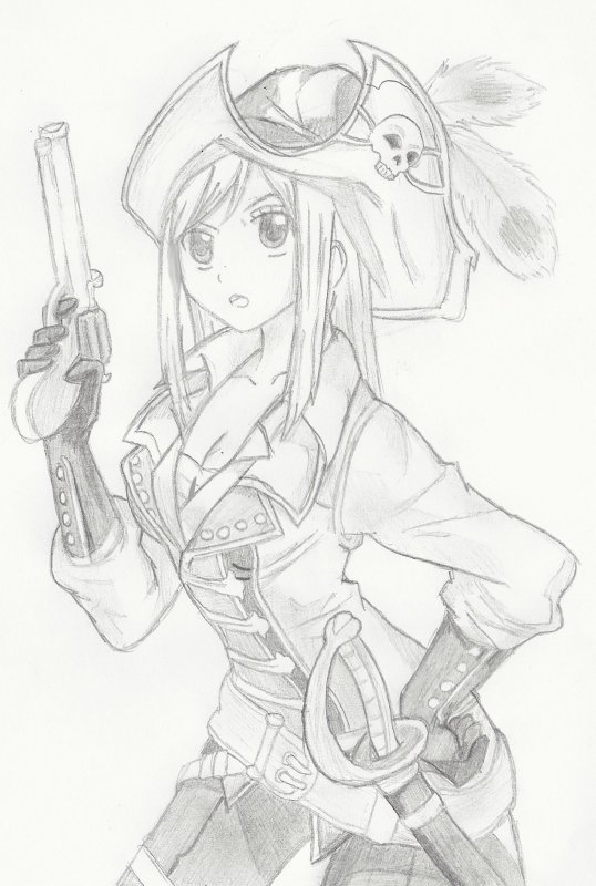 Fan art n°13 : Lucy en pirate