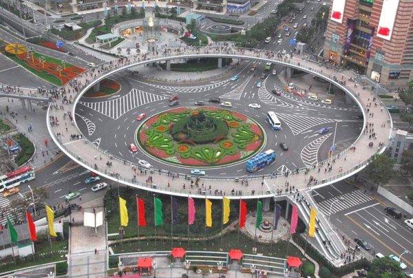 Beauté du monde : Rond point pour piétons en Chine