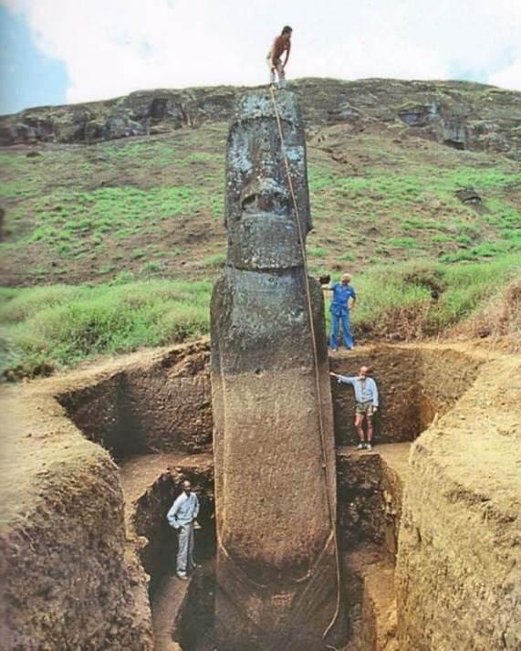 Beauté du monde : statues de l ile de Paques