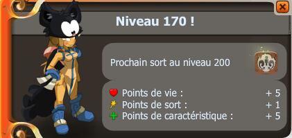 Up niveau 170 !!