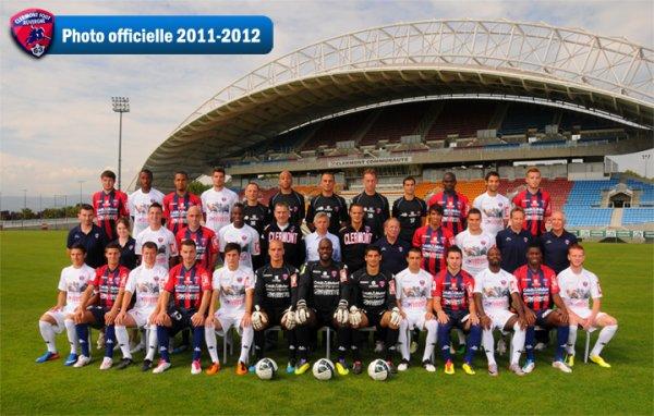 ~ Ballon Ligue 1 saison 2011/2012 dédicacé par les joueurs du Clermont Foot Auvergne 63.