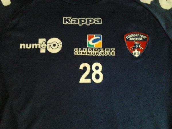 ~ T-Shirt d'entrainement du Clermont Foot Auvergne 63 Saison 2011/2012 porté par Florent Sauvadet.