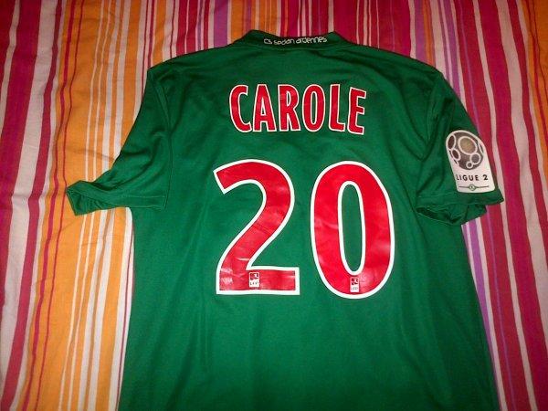 ~ Maillot CS Sedan Ardennes porté par Lionel Carole en Ligue 2 Saison 2011/2012.