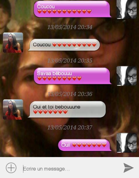 1ere image conversation avec mon amoureuse♥ 2eme image conversation avec mon ex ♥