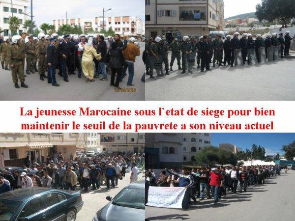 Situation de la jeunesse marocaine durant la journee mondiale contre la pauvrete 17 octobre 2010