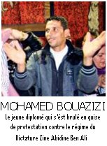 Mohamed Bouazizi, le guide de la révolution du pain à Tunis