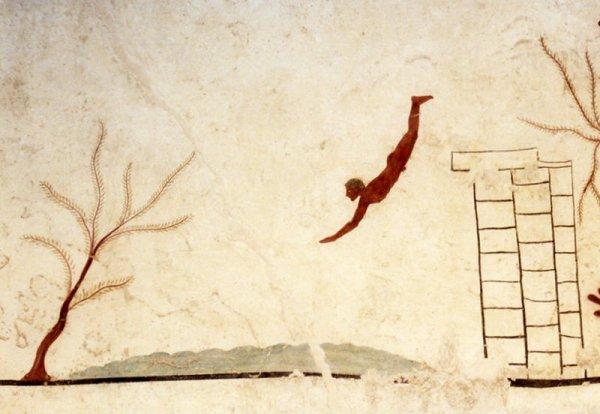 Tombe de Paestum Fresque du plongeur