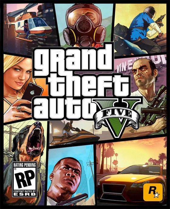 Jaquette officiel de GTAV