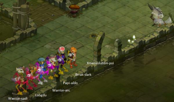 Un petit Donjon Rats Blanc avec quelque membre de la guilde :p