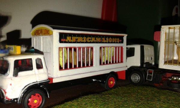 ancora un camion per il trasporto leoni.